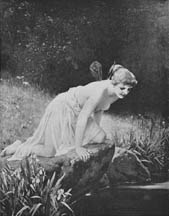 Psyche at Nature's Mirror (1893) by Paul Thumann, first published in Munsey's.
