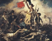 Liberty Leading the People by Eugène Delacroix commemorates the French revolution of 1830.