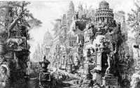 Antichita Romanae (1748) by Piranesi  If this wiki were a city, it would feature prominently nightclubs, record stores, a red light districts, museums, libraries, second hand book stores and comic shops.