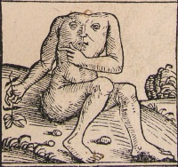 Blemmyes from Hartmann Schedel's Nuremberg Chronicle (1493)