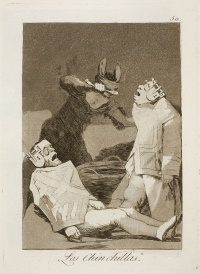 Los Chinchillas from Los Caprichos by Francisco de Goya
