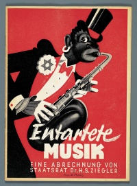 "Cover of the brochure of the ""Entartete Musik exhibition"