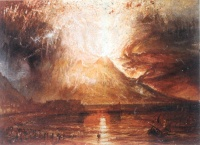 Eruption of Vesuvius (1817) by William Turner, an eruption of Vesuvius