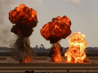 An explosion is a violent release of energy (sometimes mechanical, nuclear, or chemical.) Metaphorically, also used to denote a sudden increase or emotional outburst