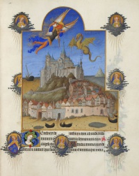 Folio 195 of the Très Riches Heures du Duc de Berry