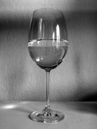 Is the glass half empty or half full?, photo © JWG