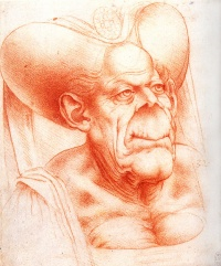 Grotesque Head (c. 1480-1510) by Leonardo da Vinci, clearly the inspiration for The Ugly Duchess