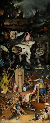"""Hell"" detail from Hieronymus Bosch's Garden of Earthly Delights. Although a near contemporary of Da Vinci, the work of Bosch is still considered radical today."