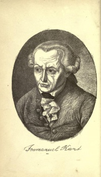 Immanuel Kant (engraving from The Last Days of Immanuel Kant)