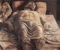 Lamentation over the Dead Christ (c. 1480) by Andrea Mantegna