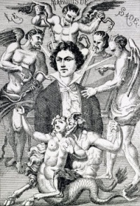 This page Fictional portrayals of psychopaths is part of the Marquis de Sade series  Illustration: Portrait fantaisiste du marquis de Sade (1866) by H. Biberstein
