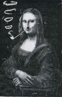 Mona Lisa Smoking a Pipe by Eugène Bataille, postmodernism avant-la-lettre