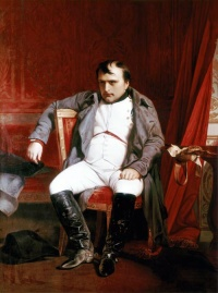 Great men history Illustration:Napoléon Bonaparte abdicated in Fontainebleau (1845) by Paul Delaroche