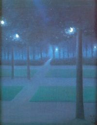 Nocturne au parc royal de Bruxelles (1897) - William Degouve de Nuncques