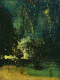 Nocturne in Black and Gold – The Falling Rocket  (c. 1875) by James McNeill Whistler