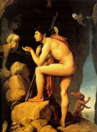 Oedipus and the Sphinx (1808) by Jean Auguste Dominique Ingres