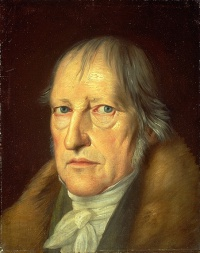 Portrait of Hegel by Jakob Schlesinger
