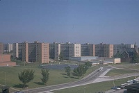 """Modern architecture died in St. Louis, Missouri on July 15, 1972 at 3:32 pm when the infamous Pruitt–Igoe scheme, or rather several of its slab blocks, were given the final coup de grâce by dynamite.""--Charles Jencks, The Language of Post-Modern Architecture (1977)"
