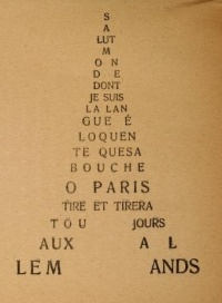 """Salut monde"" by Guillaume Apollinaire"