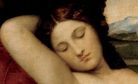 Sleeping Venus (c. 1510, detail) Giorgione, an example of closed eyes