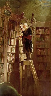The Bookworm (c. 1850) by Carl Spitzweg