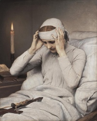 This page Ecstasy is part of the mysticism series. Illustration: The Ecstatic Virgin Anna Katharina Emmerich by (1885) by Gabriel Cornelius von Max