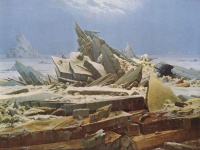 The Polar Sea (The destroyed hope) (1824)  by Caspar David Friedrich