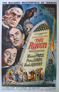 Body genre: comedy and humour; effect: laughter Illustration: poster for The Raven, a horror-comedy