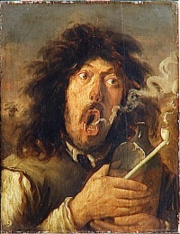 The Smoker (ca. 1654 - 1662) by Joos van Craesbeeck