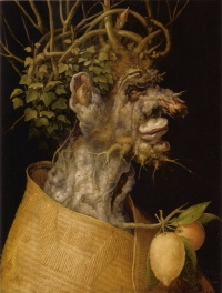 "The Winter (1563) by Arcimboldo  ""In place of a hermeneutics we need an erotics of art"" --Against Interpretation, Susan Sontag"